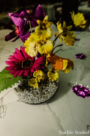 Indian wedding reception floral decor in Memphis, TN Indian Wedding by Starlife Studios