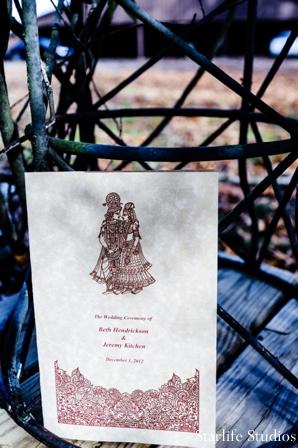 Indian wedding stationary program ideas in Memphis, TN Indian Wedding by Starlife Studios