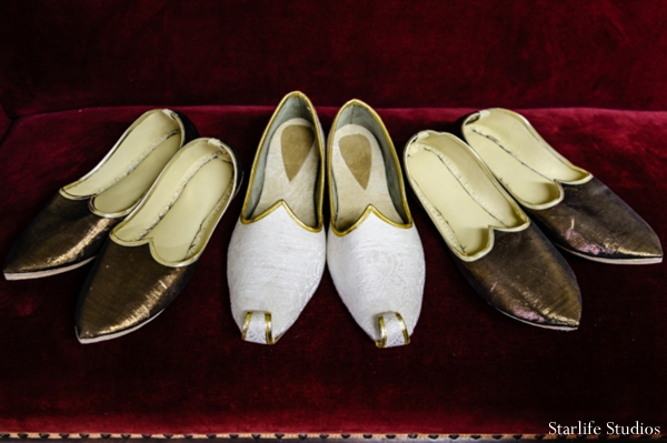 Indian wedding traditional groom shoes in Memphis, TN Indian Wedding by Starlife Studios