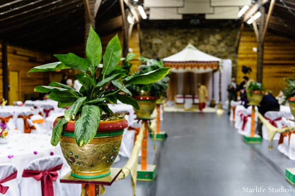 Indian wedding venue ceremony plants decor in Memphis, TN Indian Wedding by Starlife Studios