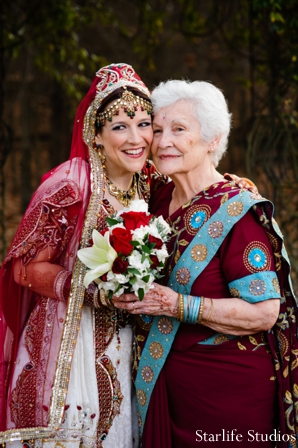Indian wedding bride photo family lenghas in Memphis, TN Indian Wedding by Starlife Studios