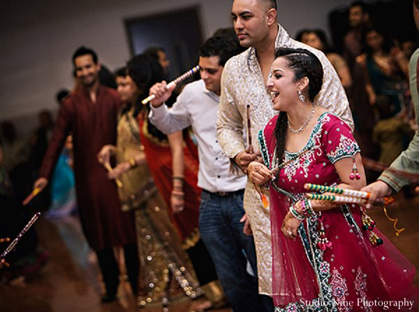 Indian wedding bridal fashions sangeet in Parsippany, NJ Indian Wedding by Studio Nine Photography + Cinema