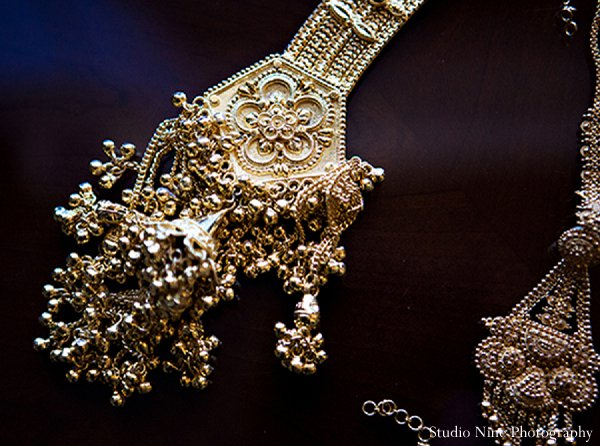 Indian wedding bridal jewels in Parsippany, NJ Indian Wedding by Studio Nine Photography + Cinema