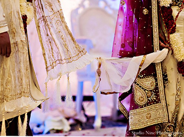 Indian wedding bride ceremony groom in Parsippany, NJ Indian Wedding by Studio Nine Photography + Cinema