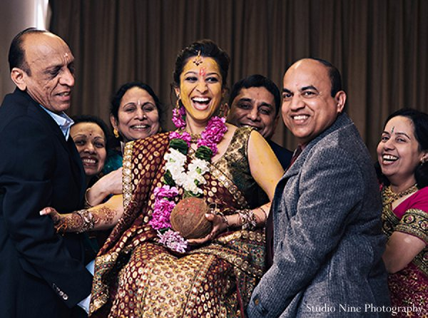 Indian wedding bride portraits sangeet in Parsippany, NJ Indian Wedding by Studio Nine Photography + Cinema
