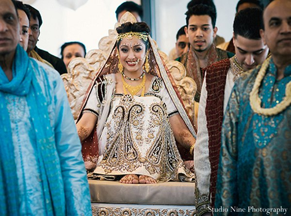 Indian wedding ceremony bride in Parsippany, NJ Indian Wedding by Studio Nine Photography + Cinema