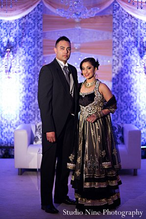 Indian wedding portraits reception in Parsippany, NJ Indian Wedding by Studio Nine Photography + Cinema