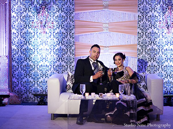 Indian wedding reception portraits in Parsippany, NJ Indian Wedding by Studio Nine Photography + Cinema