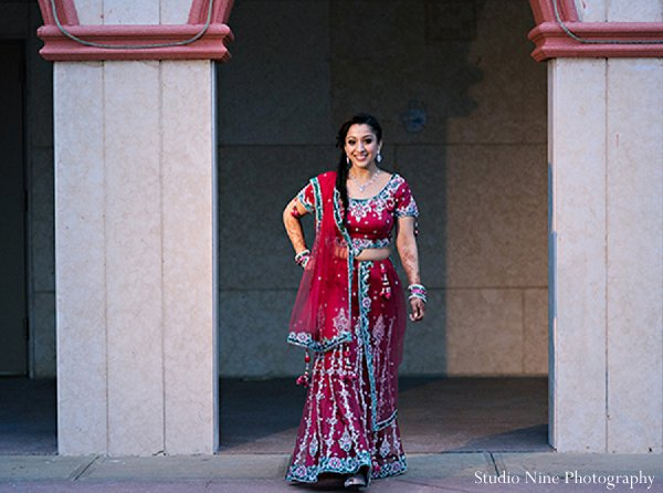 Indian wedding sangeet bridal fashions in Parsippany, NJ Indian Wedding by Studio Nine Photography + Cinema