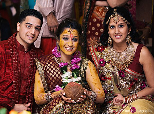 Indian wedding sangeet bride portraits in Parsippany, NJ Indian Wedding by Studio Nine Photography + Cinema