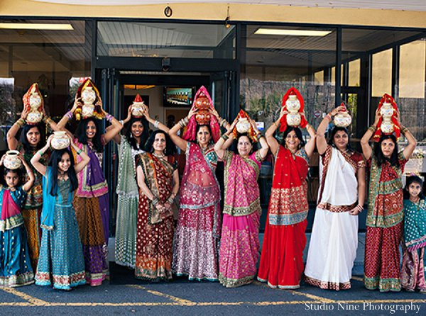 Indian wedding saris sangeet in Parsippany, NJ Indian Wedding by Studio Nine Photography + Cinema