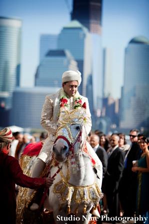 Indian-wedding-baraat-white-horse