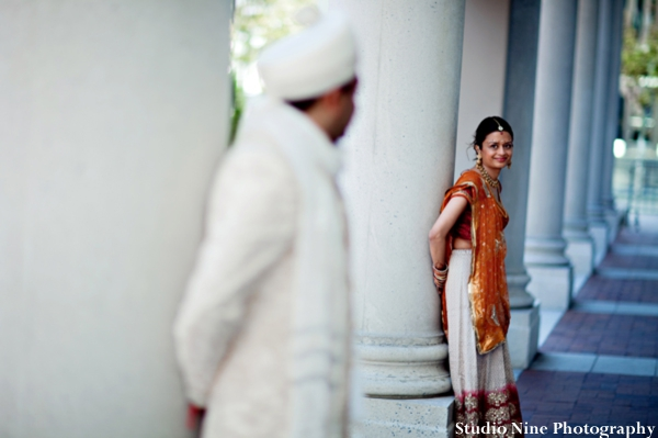 Indian-wedding-bride-groom-portrait-before-ceremony