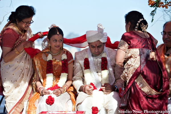 Indian-wedding-ceremony-outdoors-bride-groom
