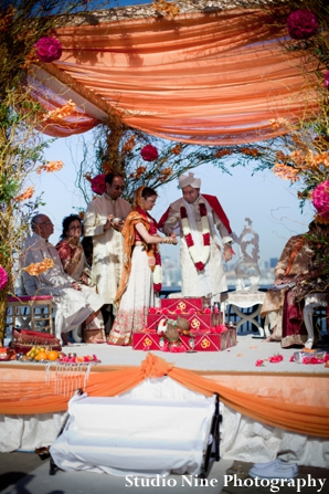 Indian-wedding-ceremony-outdoors-mandap