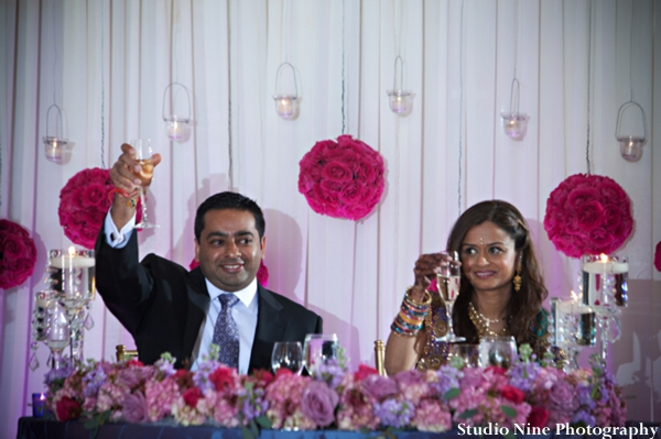 Indian-wedding-reception-bride-groom-sweethearts-table
