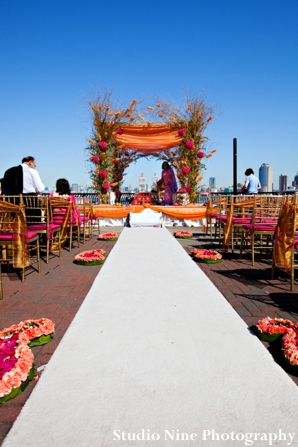 Indian-wedidng-mandap-outdoor-bright-colorful