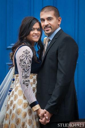 Indian engagement bride groom wedding in Sunday Sweetheart Winners  ~ Kavita & Samit by STUDIO1923