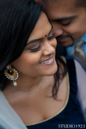 portraits,engagement,This sweet Indian bride and groom pose for beautiful engagement portraits.,Studio1923