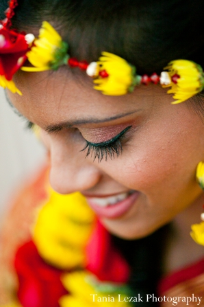 Indian-wedding-bride-gaye-holud-smiling