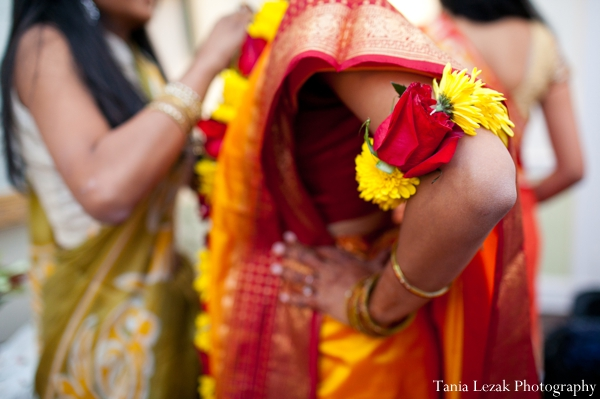 Indian-wedding-bride-getting-ready-gaye-holud