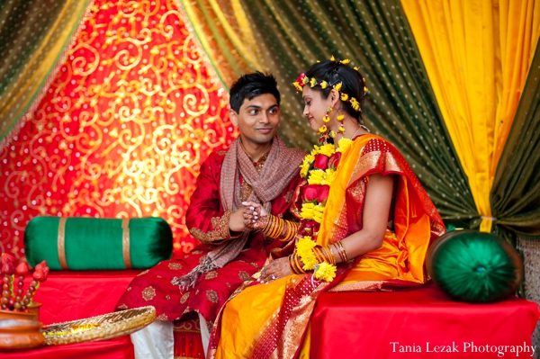 Indian-wedding-couple-at-gaye-holud