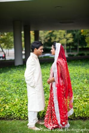 Indian-wedding-portrait-bride-groom-garden