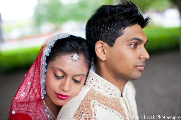 Indian-wedding-portrait-bride-groom-lengha-sherwani