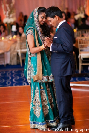 Indian-wedding-reception-bride-groom-dance