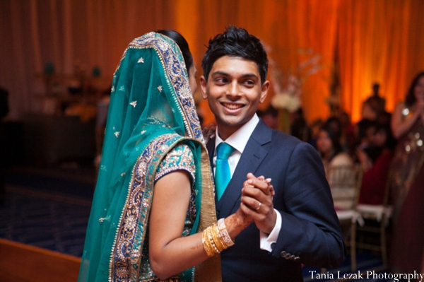 Indian-wedding-reception-bride-groom-dancing