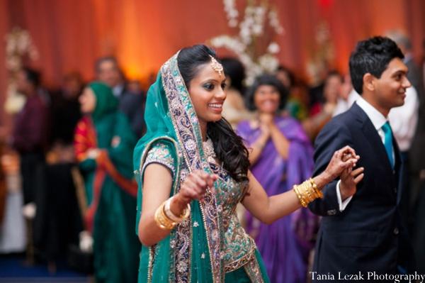 Indian-wedding-reception-bride-lengha-dancing