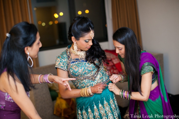 Indian-wedding-reception-getting-ready-bride-family