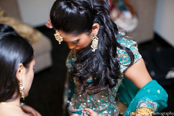 Indian-wedding-reception-getting-ready-bride-lengha
