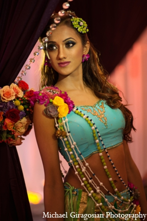 Jewelry-indian-bride in tAnirika by Suhaag Garden: Extraordinary Floral Jewelry