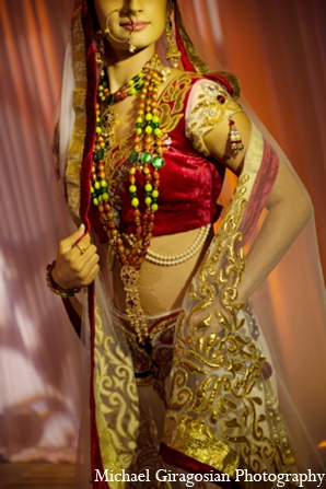 Modern-bride-indian-jewelry in tAnirika by Suhaag Garden: Extraordinary Floral Jewelry