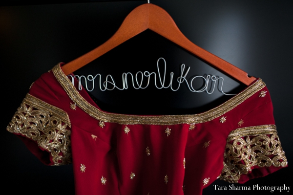 Indian bridal sari detail inspiration in Jersey City, New Jersey Indian Wedding by Tara Sharma Photography