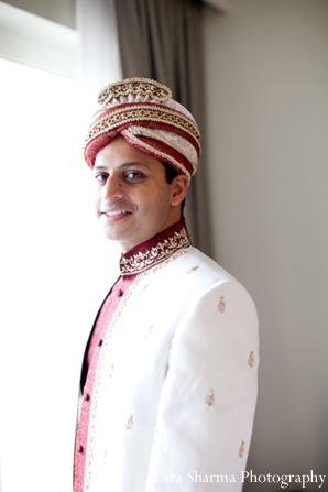 Indian wedding groom sherwani portrait traditional in Jersey City, New Jersey Indian Wedding by Tara Sharma Photography