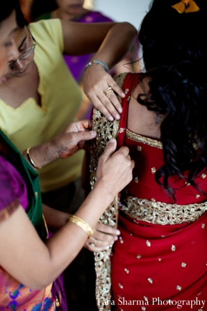 Indian wedding bridal traditional dress in Jersey City, New Jersey Indian Wedding by Tara Sharma Photography