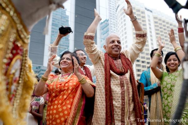 Indian wedding baraat street celebration in Jersey City, New Jersey Indian Wedding by Tara Sharma Photography