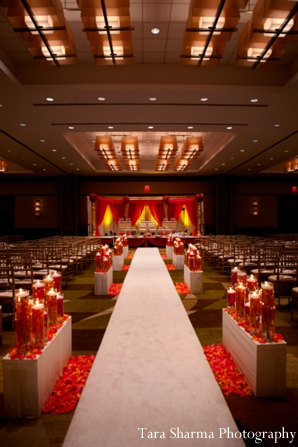 Indian wedding traditional ceremony venue lighting in Jersey City, New Jersey Indian Wedding by Tara Sharma Photography