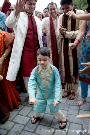Indian wedding baraat street celebration in Jersey City, New Jersey Indian Wedding by Tara Sharma Photography