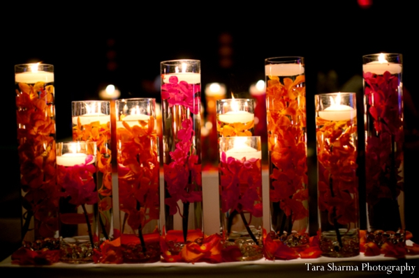 red,gold,Floral & Decor,indian wedding ceremony,Tara Sharma Photography,ceremony candles,candle lighting at ceremony