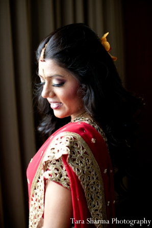 Indian wedding bridal portrait maharani in Jersey City, New Jersey Indian Wedding by Tara Sharma Photography