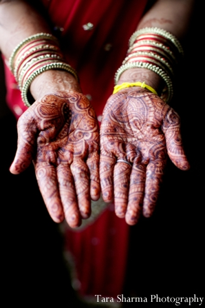 Indian wedding bridal henna hands in Jersey City, New Jersey Indian Wedding by Tara Sharma Photography