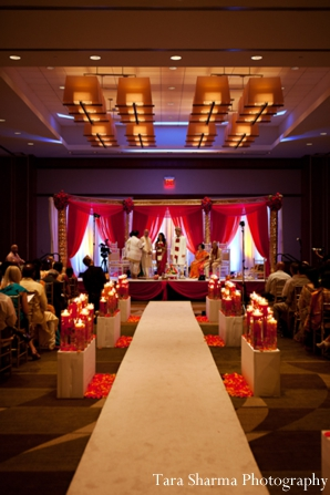 Indian wedding ceremony venue lighting in Jersey City, New Jersey Indian Wedding by Tara Sharma Photography