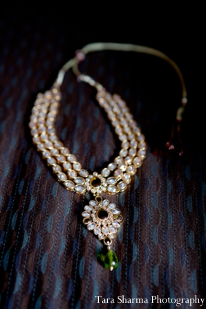 Indian wedding reception necklace in Jersey City, New Jersey Indian Wedding by Tara Sharma Photography