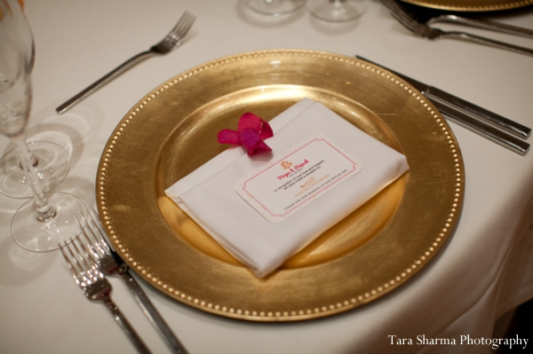 gold,Planning & Design,indian wedding reception,reception table setting,Tara Sharma Photography,plate setting at wedding reception