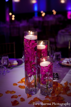 Indian wedding reception decor candles in Jersey City, New Jersey Indian Wedding by Tara Sharma Photography