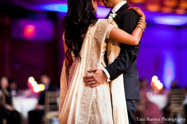Indian wedding reception bride groom dance in Jersey City, New Jersey Indian Wedding by Tara Sharma Photography