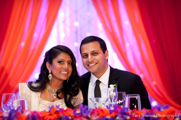 Indian wedding bride groom reception in Jersey City, New Jersey Indian Wedding by Tara Sharma Photography